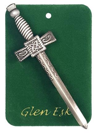 Antiqued Thistle Sword Kilt Pin