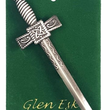 Antiqued Thistle Sword Kilt Pin