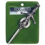 Art Pewter Scottish Piper Kilt Pin