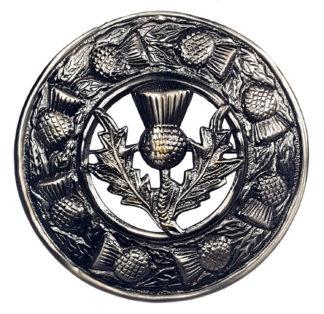 Antiqued Thistle Standard Plaid Brooch