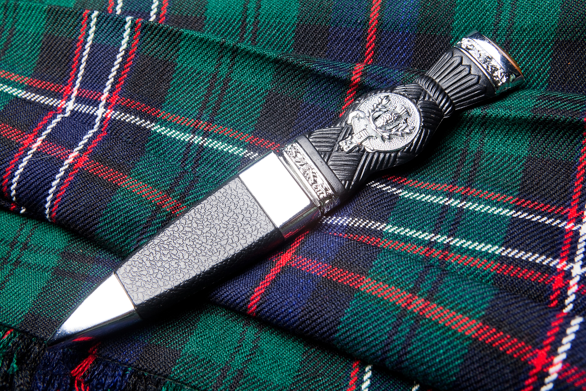 Sgian dubh or traditional scottish hunting knife