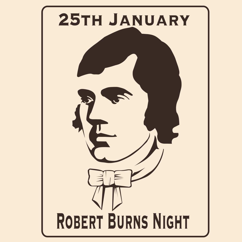 A cartoon of Robert Burns