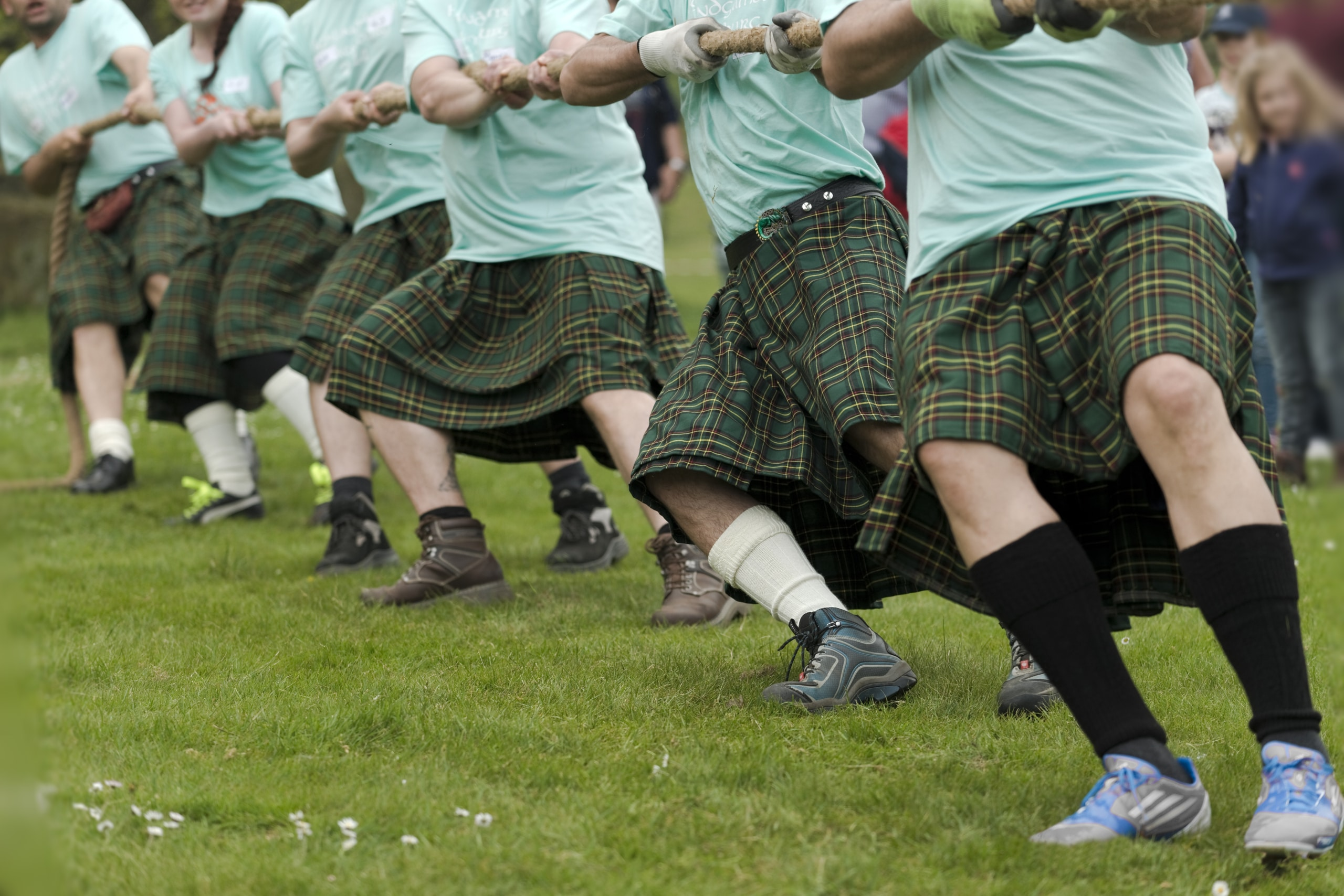 Tug of war at a Highland Games