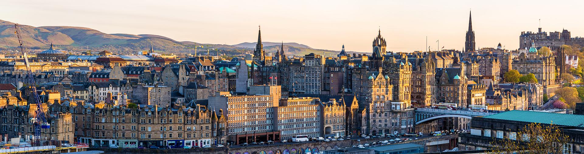 Panorama of the city centre of Edinburgh - Scotland
