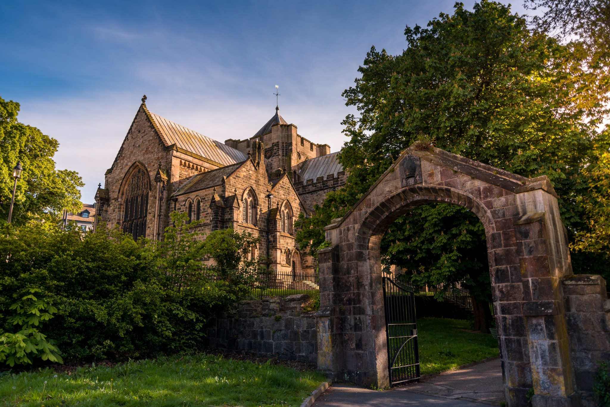 Bangor Cathedral in Bangor, one of the beautiful cities in Wales.