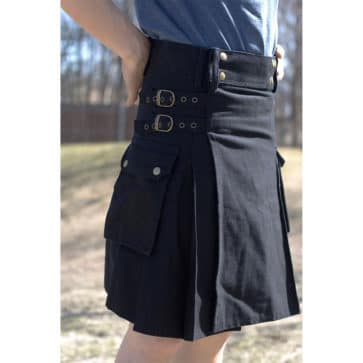 Black Canvas Kilt