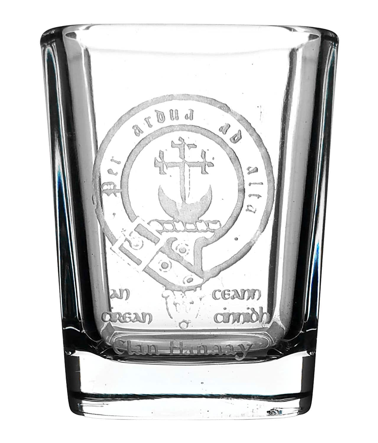 CCT04-CL-1754 Hannay Clan Crest Shot Glass