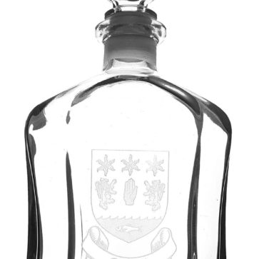 CCT06CA-IS-1780 O'Neil Coat of Arms Decanter
