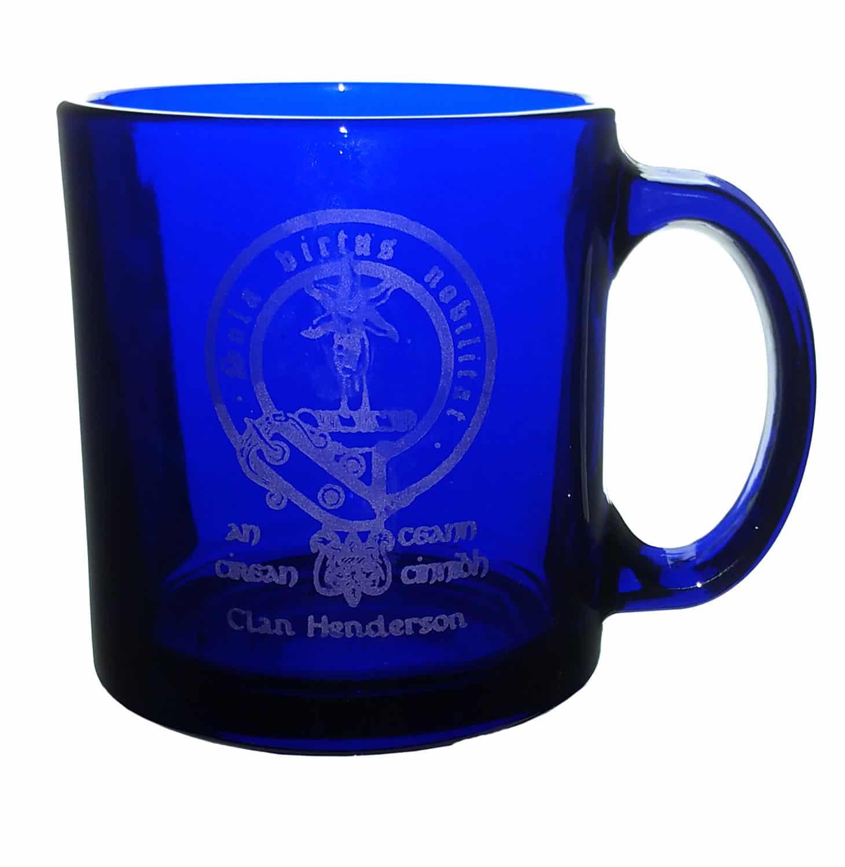 CCT18-CL-1772 Henderson Clan Crest Blue Mug