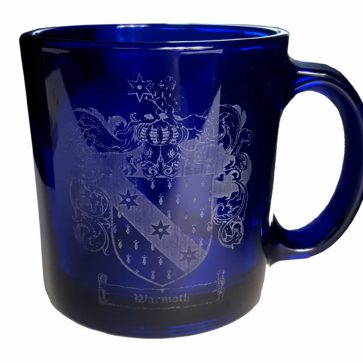 CCT21-CL-1774 Warmoth Coat of Arms Blue Mug