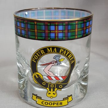 Cooper Clan Crest Whisky Glass