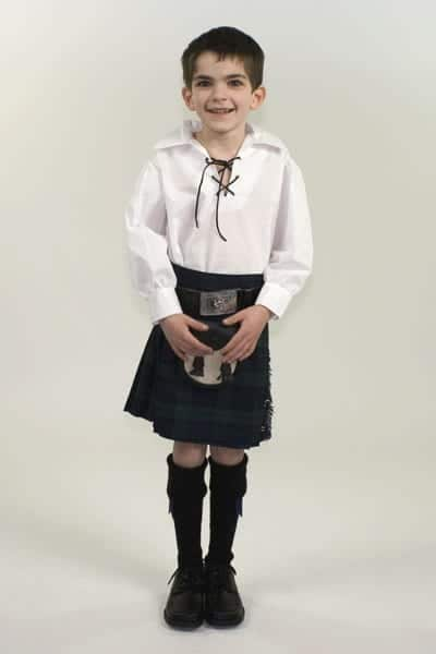 Kids Jacobite Kilt Shirt