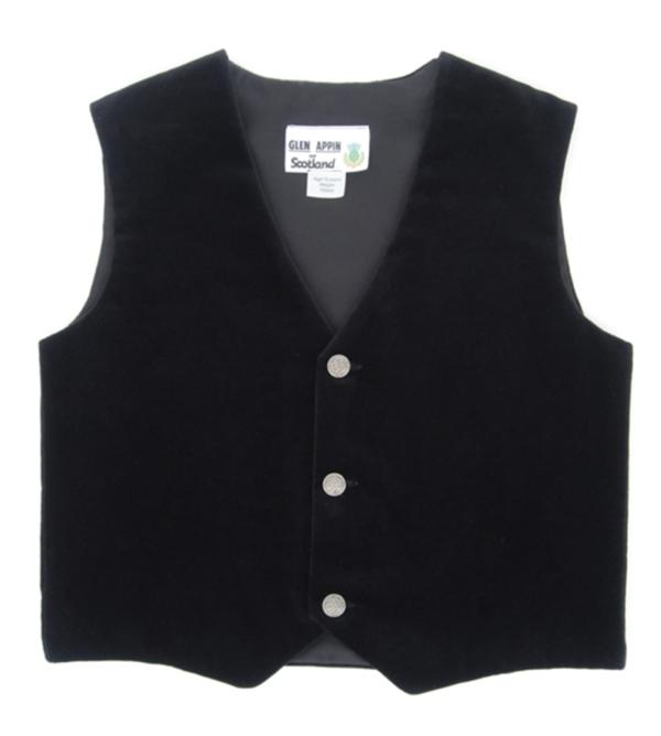 Child Large Velvet Vest
