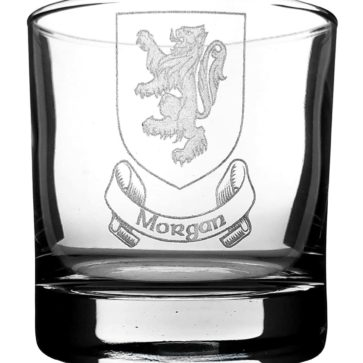 COA-CL-1752 Morgan Coat of Arms Whisky Glass