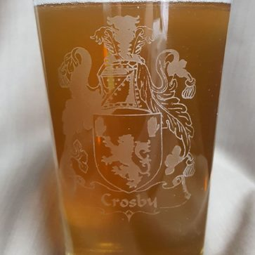 Crosby Coat of Arms Pub Glass
