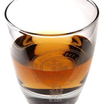 Clan Crest Round Whisky Glass
