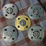Clan Crest Plaid Brooches