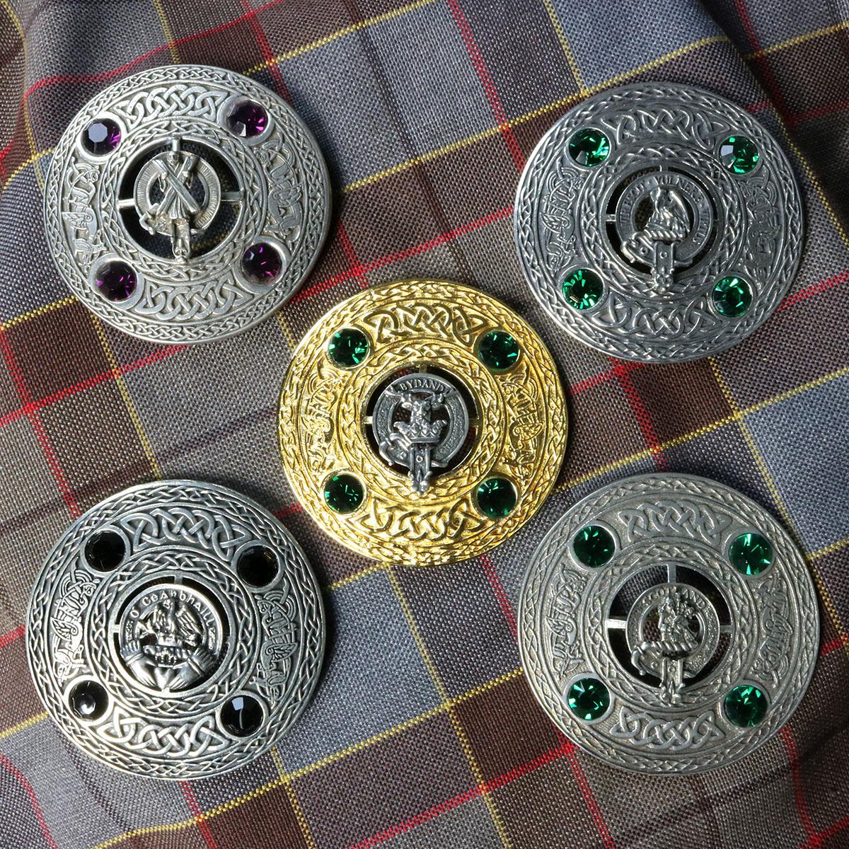 USA Kilts MacNeil Clan Crest Badge  Brooch Pin Made in Scotland