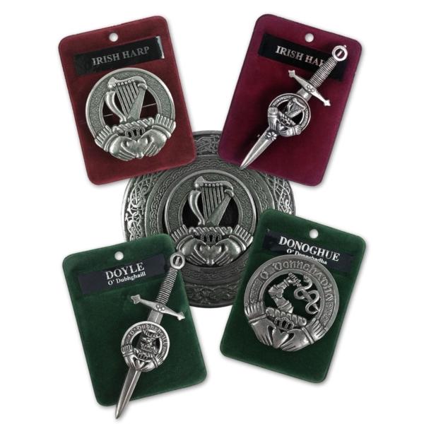 Irish Badges, Brooches, Buckles, and Kilt Pins