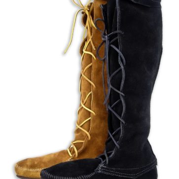 Mens Suede Knee High Boots
