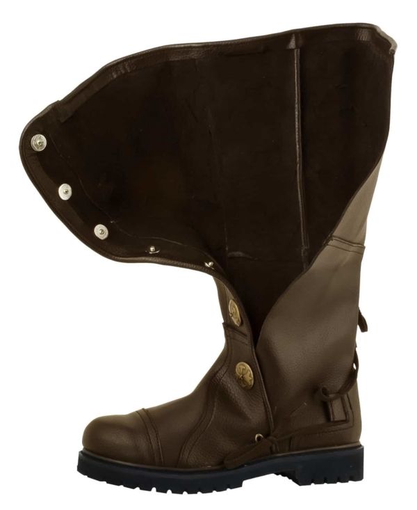 Premium Top Grain Leather Knee-High Boots - Brown