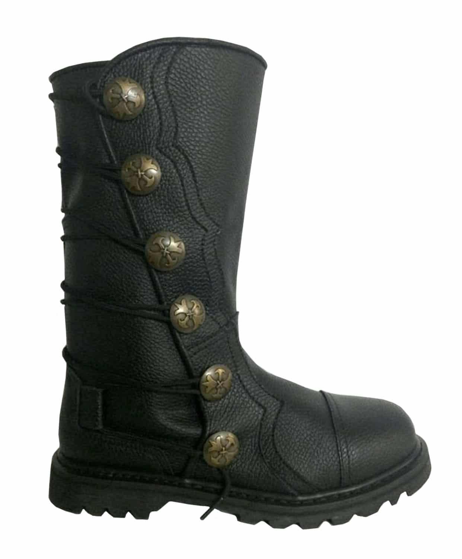 Premium Leather Half-Calf Boots - Black