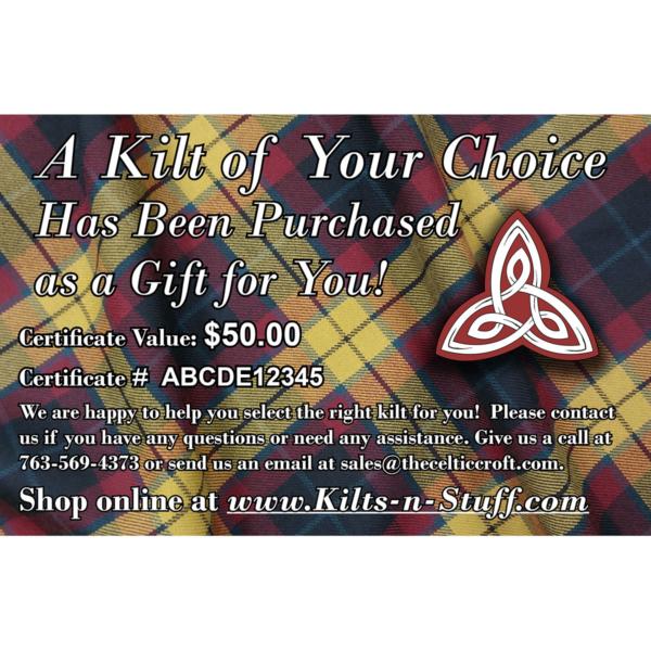 PDF Kilt Gift Certificate