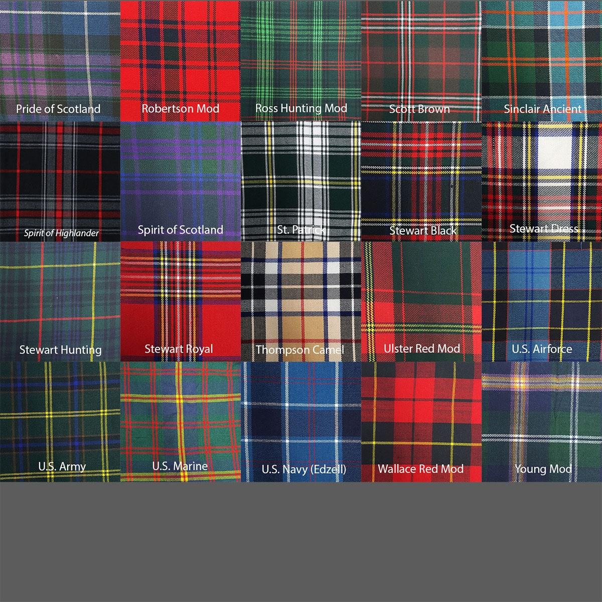 Homespun Tartan Flashes Gordon Modern Flashes Wool Blend Flashes