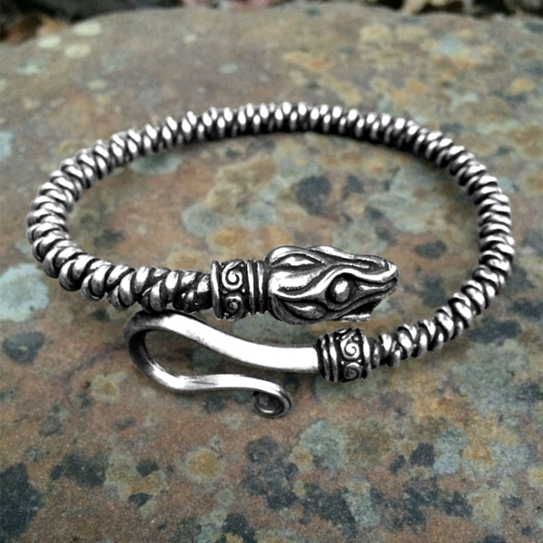Snake Arm Ring Silver