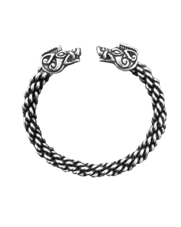 Boar Bracelet Medium Braid Silver