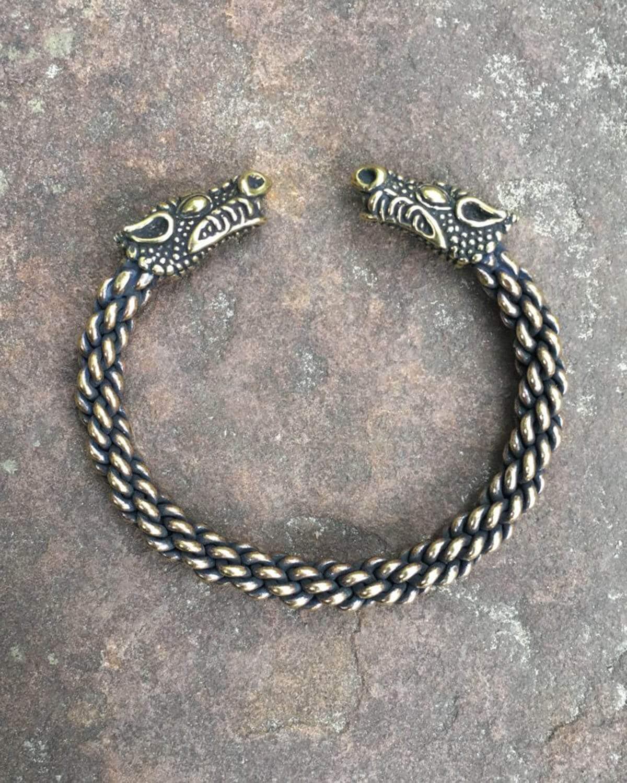 Celtic Dragon Torc Bracelet