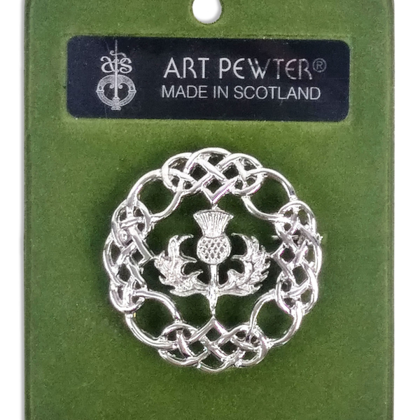 Pewter Thistle Brooch