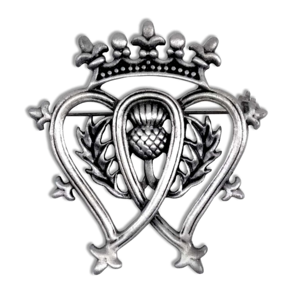 Pewter Luckenbooth Thistle Brooch