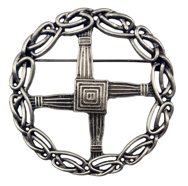 St Bridget's Cross Pewter Brooch