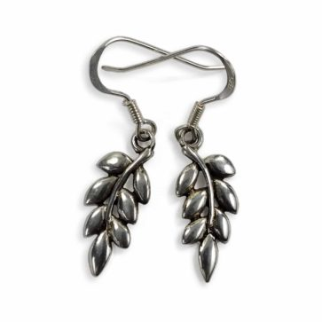 Ash Leaf Sterling Silver Earrings