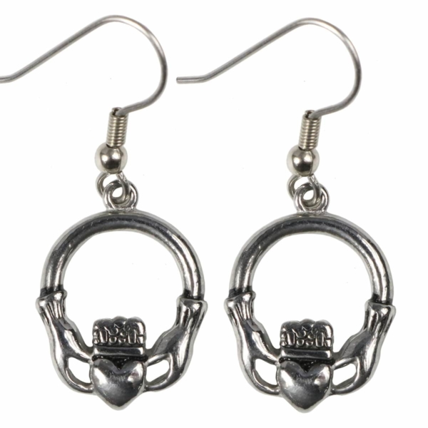Stainless Steel Claddagh Earring