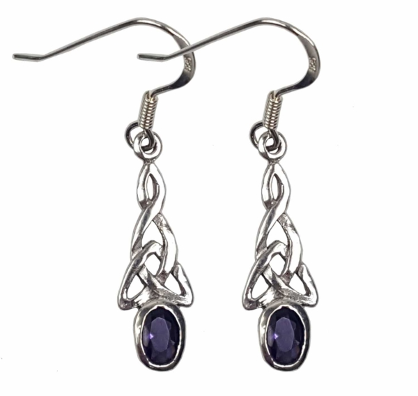 Amethyst Triskle Earrings