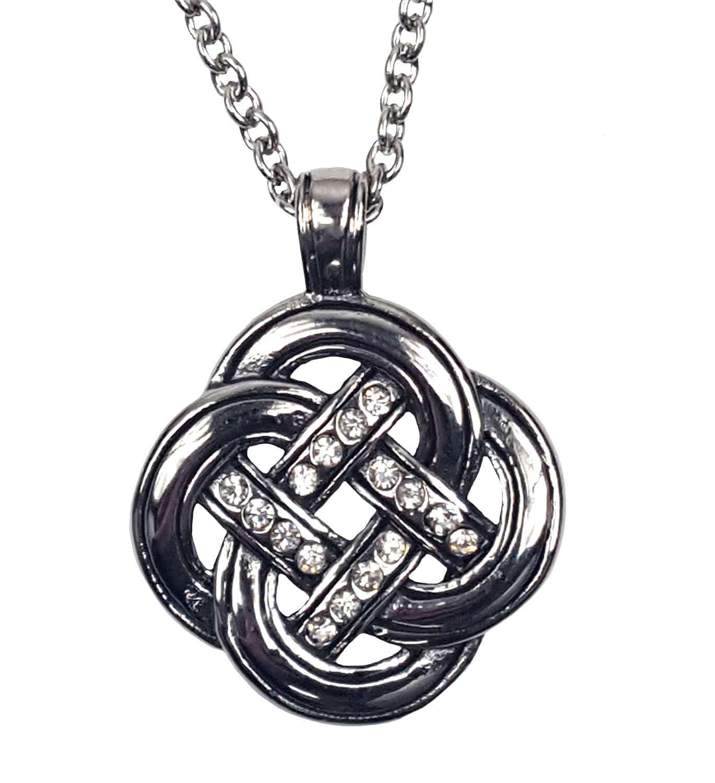 Celtic Knot with Cubic Zirconium Necklace