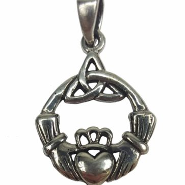 Triskle Claddagh Necklace