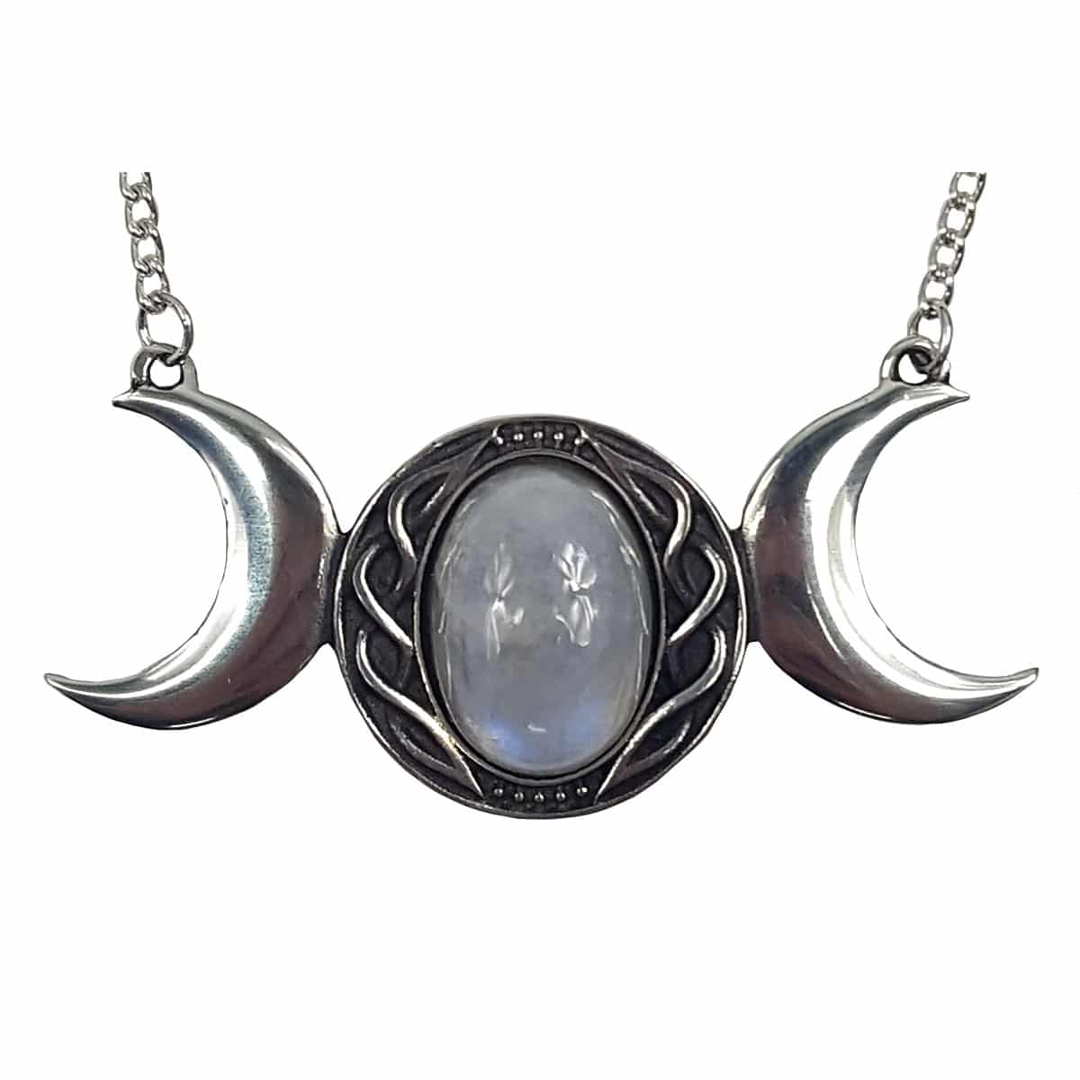 ON SALE Triple Moon Necklace