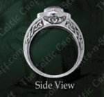 Claddagh Stone Ring