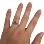 A green Claddagh ring from the Celtic Croft