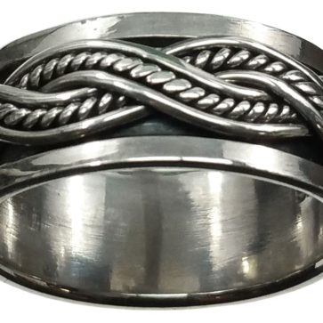 Sterling Silver Celtic Knot Spinner Ring