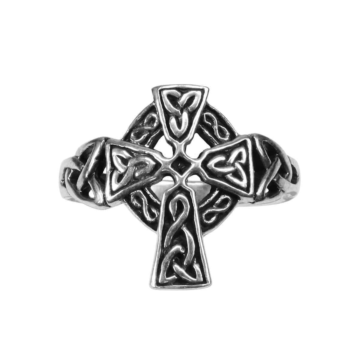 A Celtic Cross knot ring from the Celtic Croft