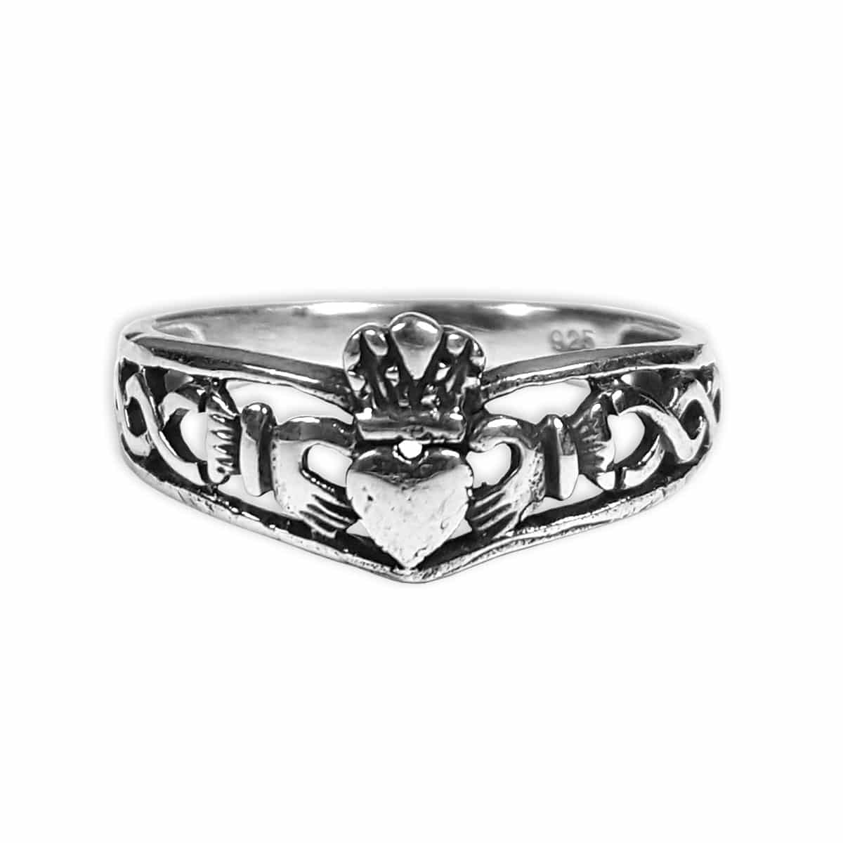 Silver Claddagh Celtic Knot Ring Kilts N Stuff Com