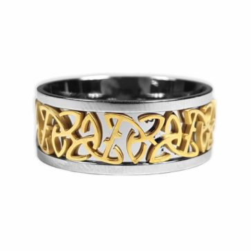 Two Tone Triskle Ring