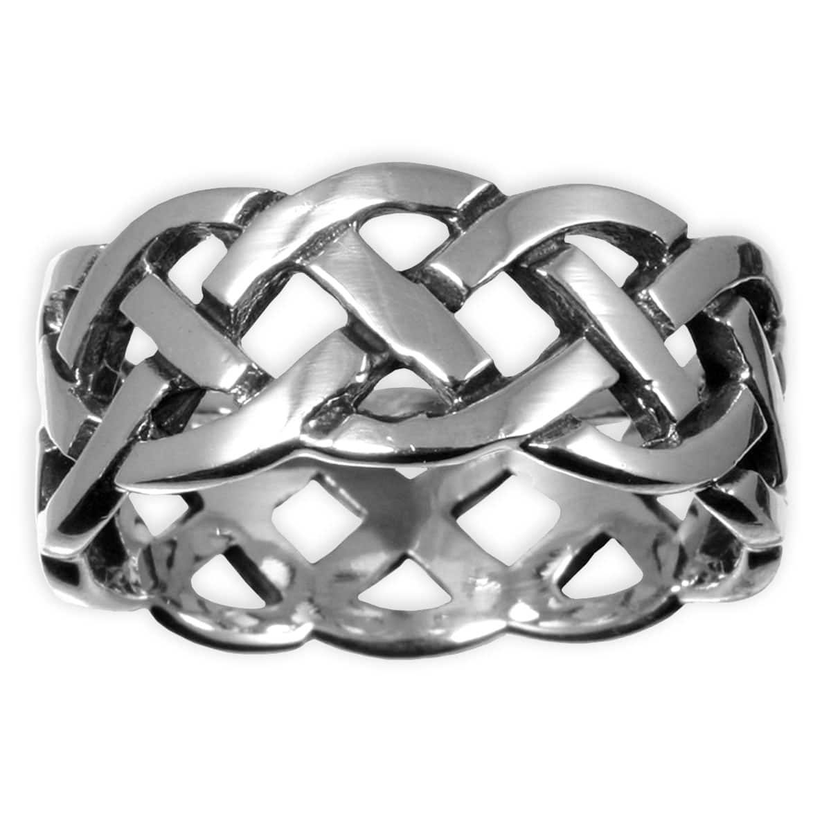 Stainless Steel Interlacing Knot Ring similar to a Sailor's Celtic knot
