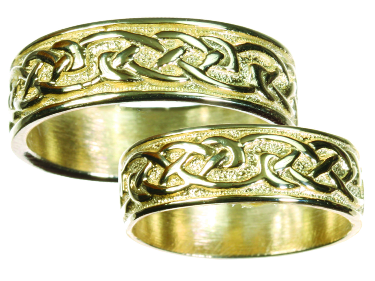 This is a graphic of Womens 50k Gold Celtic Wedding Band