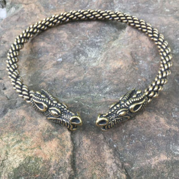 Celtic Dragon Torc Heavy Braid