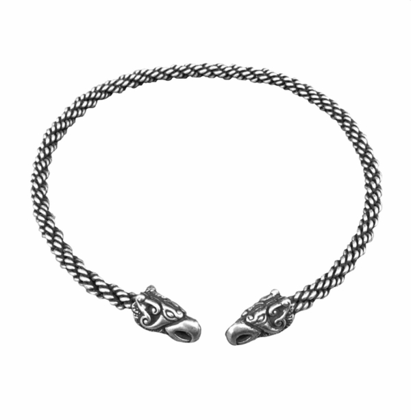 Griffin Torc Light Braid Silver